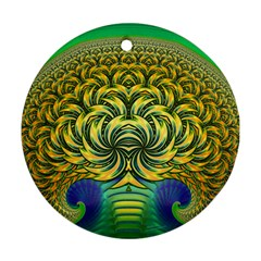 Fractal Tree Abstract Fractal Art Ornament (round)