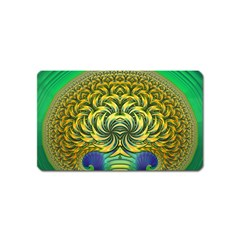 Fractal Tree Abstract Fractal Art Magnet (name Card) by Pakrebo
