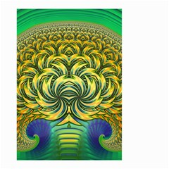 Fractal Tree Abstract Fractal Art Small Garden Flag (two Sides) by Pakrebo