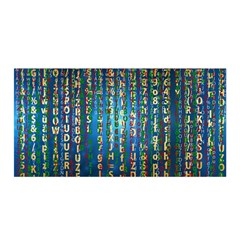 Binary Null One Digital Blue Satin Wrap