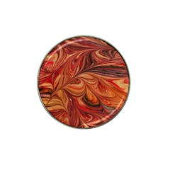 Marbled Paper Mottle Color Movement Hat Clip Ball Marker by Pakrebo