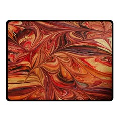 Marbled Paper Mottle Color Movement Double Sided Fleece Blanket (small)  by Pakrebo