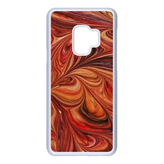 Marbled Paper Mottle Color Movement Samsung Galaxy S9 Seamless Case(white)