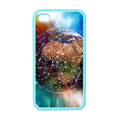 Network Earth Block Chain Globe Iphone 4 Case (color)