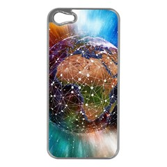 Network Earth Block Chain Globe Iphone 5 Case (silver)