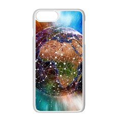 Network Earth Block Chain Globe Iphone 7 Plus Seamless Case (white)