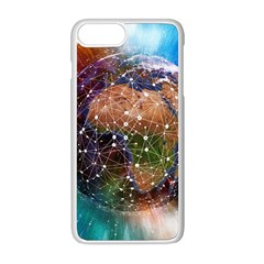 Network Earth Block Chain Globe Iphone 8 Plus Seamless Case (white)