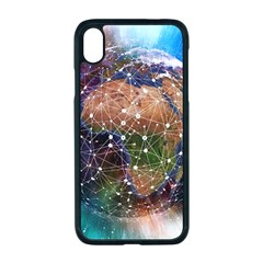 Network Earth Block Chain Globe Iphone Xr Seamless Case (black)