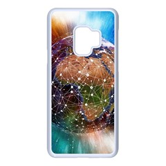 Network Earth Block Chain Globe Samsung Galaxy S9 Seamless Case(white)