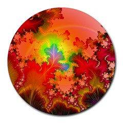 Background Abstract Color Form Round Mousepads by Pakrebo