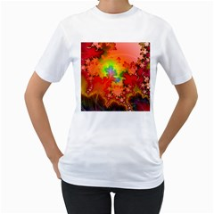 Background Abstract Color Form Women s T Shirt (white) (two Sided)