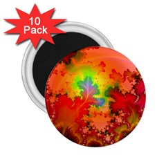 Background Abstract Color Form 2 25  Magnets (10 Pack)