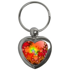 Background Abstract Color Form Key Chains (heart)