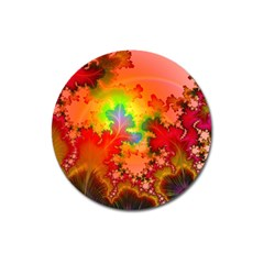 Background Abstract Color Form Magnet 3  (round)