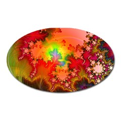 Background Abstract Color Form Oval Magnet