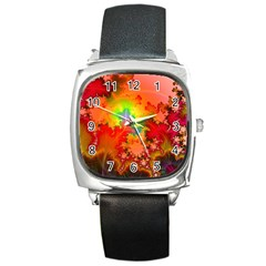 Background Abstract Color Form Square Metal Watch