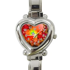 Background Abstract Color Form Heart Italian Charm Watch