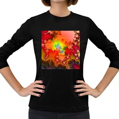 Background Abstract Color Form Women s Long Sleeve Dark T Shirt