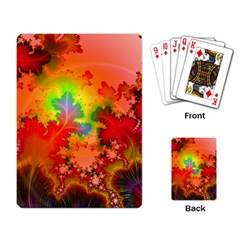 Background Abstract Color Form Playing Cards Single Design