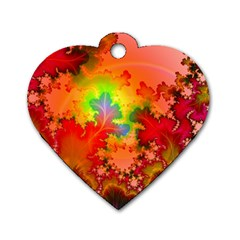 Background Abstract Color Form Dog Tag Heart (two Sides)