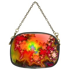Background Abstract Color Form Chain Purse (two Sides)