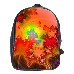 Background Abstract Color Form School Bag (large)