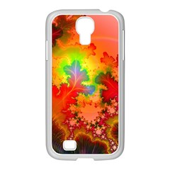 Background Abstract Color Form Samsung Galaxy S4 I9500/ I9505 Case (white)