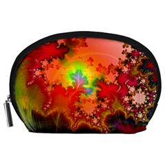 Background Abstract Color Form Accessory Pouch (large)