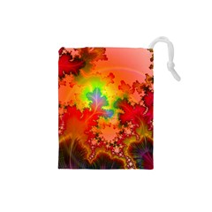Background Abstract Color Form Drawstring Pouch (small)