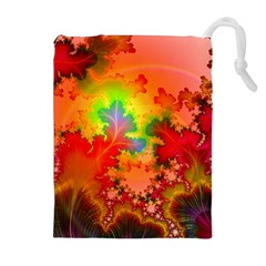 Background Abstract Color Form Drawstring Pouch (xl)
