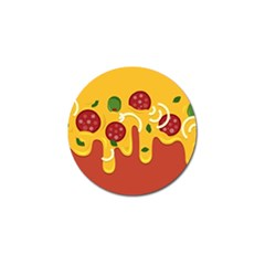 Pizza Topping Funny Modern Yellow Melting Cheese And Pepperonis Golf Ball Marker (10 Pack) by genx