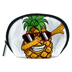 Dabbing Pineapple Sunglasses Shirt Aloha Hawaii Beach Gift Accessory Pouch (medium) by SilentSoulArts