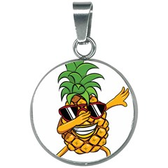 Dabbing Pineapple Sunglasses Shirt Aloha Hawaii Beach Gift 20mm Round Necklace by SilentSoulArts