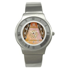 Decorative Celtic Knot Stainless Steel Watch