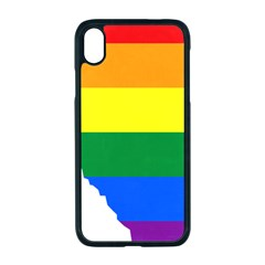 Lgbt Flag Map Of Alberta Iphone Xr Seamless Case (black)