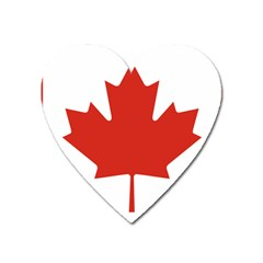 National Flag Of Canada Heart Magnet by abbeyz71