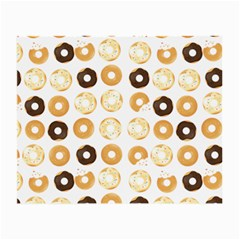 Donuts Pattern With Bites Bright Pastel Blue And Brown Cropped Sweatshirt Small Glasses Cloth (2-side) by genx