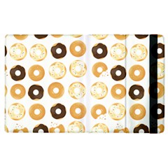 Donuts Pattern With Bites Bright Pastel Blue And Brown Cropped Sweatshirt Apple Ipad 2 Flip Case by genx