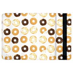 Donuts Pattern With Bites Bright Pastel Blue And Brown Cropped Sweatshirt Ipad Air 2 Flip