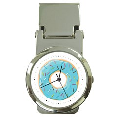 Pastel Blue Donut With Rainbow Candies Money Clip Watches by genx