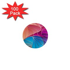 Modern Colorful Abstract Art 1  Mini Magnets (100 Pack)