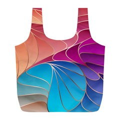 Modern Colorful Abstract Art Full Print Recycle Bag (l)