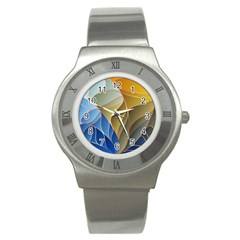 Modern Colorful Abstract Art Stainless Steel Watch