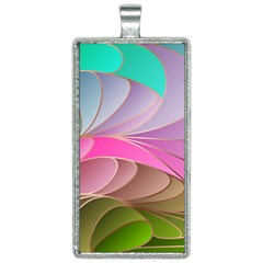 Modern Colorful Abstract Art Rectangle Necklace