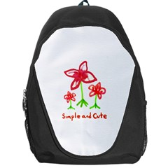 Flowers And Cute Phrase Pencil Drawing Backpack Bag