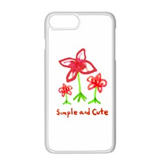 Flowers And Cute Phrase Pencil Drawing Iphone 8 Plus Seamless Case (white)