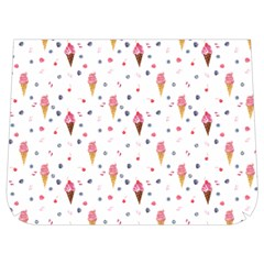 Ice Cream Cones Watercolor With Fruit Berries And Cherries Summer Pattern Buckle Messenger Bag