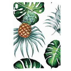 Pineapple Tropical Jungle Giant Green Leaf Watercolor Pattern Apple Ipad Pro 10 5   Black Uv Print Case by genx
