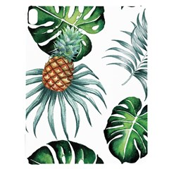 Pineapple Tropical Jungle Giant Green Leaf Watercolor Pattern Apple Ipad Pro 12 9   Black Uv Print Case