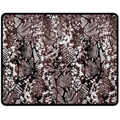 Luxury Snake Print Fleece Blanket (medium)  by tarastyle